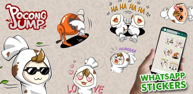 Pocong Jump Stickers For WhatsApp